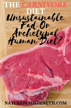 The Carnivore Diet: Unsustainable Fad Or Archetypal Human Diet? Protein Diets, No Carb Diets, Zero Carb Diet, Low Carb, Meat Diet, Fad Diets, Diet Meal Plans, Blog, Ketogenic Diet