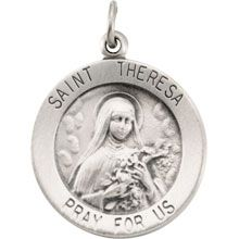 Jewelry Adviser Medals Sterling Silver St Theresa Medal