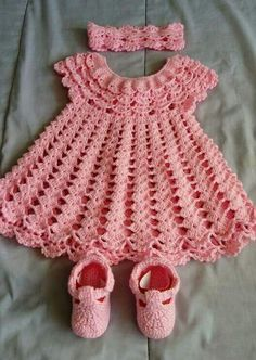 Crochet Baby Dress Pattern, First Outfit Easter Baby Shower Gift, Welcome Baby Girl, Chevron Infant Crochet Dress Pattern Months Infant Crochet Baby Dress Pattern, Baby Dress Patterns, Crochet Fabric, Crochet Baby Clothes, Crochet Diagram, Crochet Patterns, Baby Knitting Patterns, Pattern Dress, Cape Bebe