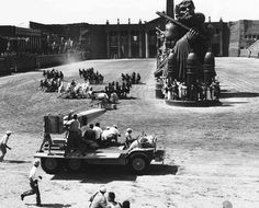 Ben-Hur (1959) | The chariot race took 18 acres of backlot, 1,000 set-builders, 42 cameras, 18 replicated chariots, 5 weeks of filming, and 78 horses.