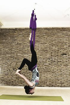 I want to try aerial silks yoga so bad!