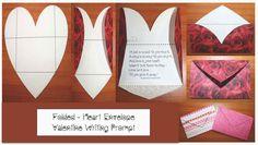 Classroom Freebies: Valentine writing prompt craftivity