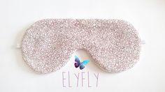 Masque de sommeil, de repos fleuri #24 : Soin, bien-être par elyfly Creations, Etsy, Beauty, Sleep Mask, Rest, Floral, Beauty Illustration