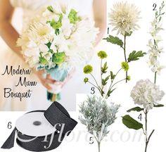 Angela's modern cream bouquet inspiration board