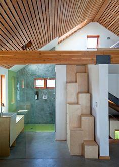 grüne duschkabine im badezimmer mit hoher decke - 21 eigenartige Ideen – Bad mit Dusche ultramodern ausstatten