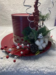 Santa hat centerpiece – Welcome My World Country Christmas Decorations, Christmas Centerpieces, Xmas Decorations, Diy Christmas Ornaments, Rustic Christmas, Christmas Wreaths, Primitive Christmas, Christmas Christmas, Christmas Projects