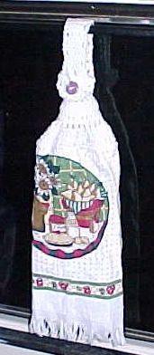 DISH TOWEL TOPPER Crochet Pattern - Free Crochet Pattern Courtesy of Crochetnmore.com