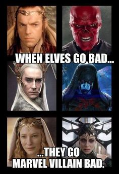 Tolkien Elves as Marvel bad guys Memes Marvel, Dc Memes, Marvel Dc Comics, Marvel Avengers, Marvel Villains, Tolkien, Geeks, Fandoms, Maquillage Halloween