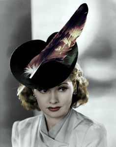 Lucille Ball in a fabulous hat (Great MOMS).