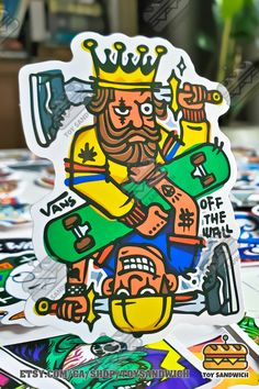 """We have 100 pieces ALL different """"Skateboard"""" related stickers in a single pack, decorate on your skateboard, longboard, laptop, scrapbook, photo album, water bottle, fridge, luggage, toolbox, pretty much anything you want! OFF THE WALL sticker pack   Skateboard stickers  Skateboard design  Skateboard Art   VANS Sticker Bomb, Logo Sticker, Wall Sticker, Vans Skateboard, Skateboard Design, Wall Logo, Vintage Skateboards, Brand Stickers"""