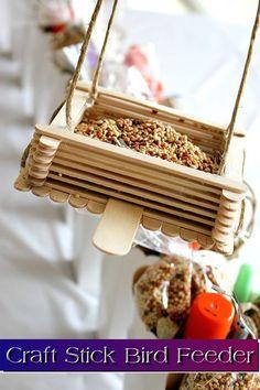 Craft Stick Bird Feeder