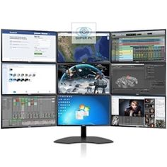 Super pc triple monitor lcd display array choice of dell for Electrical motor controls for integrated systems fifth edition