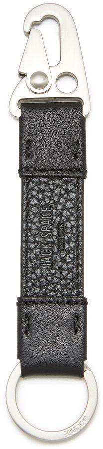 Jack Spade Pebbled Leather Key Fob