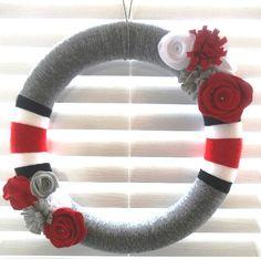 OSU wreath  customized sports wreath  Ohio State by SewMuchSpirit, $37.99