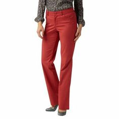 Chaps Womens Corduroy Pants Straight Leg Cotton Elastano Solid size 12P NEW