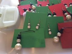 Bead Snowmen Necklaces - Great Teacher gifts!