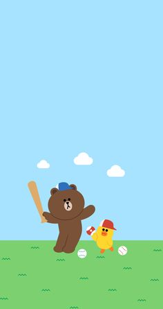 Brown and Sally in baseball game