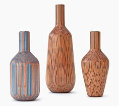 amalgamated pencils form vases