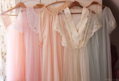 soft pastel robes