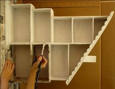 How to make a Doll House from shoe boxes.  Brilliant!!!  It is in spanish but I can understand the pictures. . . . . .