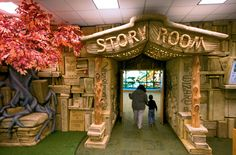 The Story Room in the new children's wing at the Brentwood Public Library, Brentwood, Tennessee.