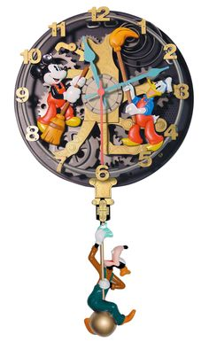 Mickey Mouse Clock Cleaners Wall Clock My absolute favorite short with the three boys!!!!