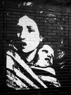 Artist Blek le Rat ...Paris #streetart
