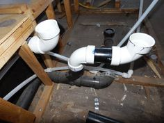 Replaced some of the plumbing lines. There were a few places that needed to have new pipe sections.