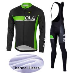 ... thermal fleece Suppliers  2017 Ale Team Winter Thermal Fleece Cycling  Jersey Bib Set Mountain Bike Sportswear Racing Bicycle Clothing Outdoor  Sport Coat 1bfc9d6c4486