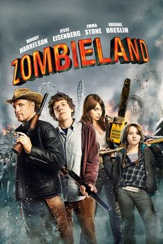 Zombieland - Love this movie. And for me who actually doesn't really like zombie movie kinda like it. It's funny, entertaining, realistic, and there's some cool tips that can make you survive in this kind of situation. i mean if zombie really gonna invade. 4/5.