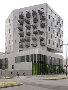 Cité Internationale Paul Ricœur by Hérault Arnod Architectes in Rennes, France