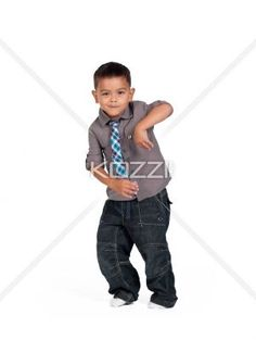 little asian boy dancing. - Little Asian boy dancing over white background,