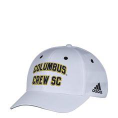 outlet store 70ccf d8983 adidas MLS Columbus Crew Men s White Wordmark Structured Adjustable Hat, ...