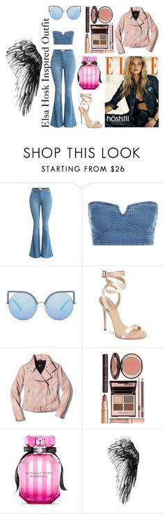 """Elsa Hosk Inspired Outfit"" by claudiaidualc on Polyvore featuring moda, Matthew Williamson, Giuseppe Zanotti, Mackage, Charlotte Tilbury e Victoria's Secret"