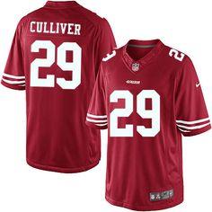 11a945225 Men Nike San Francisco 49ers  29 Chris Culliver Limited Red Team Color NFL  Jersey Sale