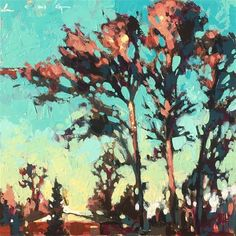 "Daily Paintworks - ""Mississippi - Original Fine Art for Sale - © Christopher Long Fine Art Gallery, Art For Sale, Mississippi, Landscape Paintings, Sketch, Trees, Strong, The Originals, Sketch Drawing"