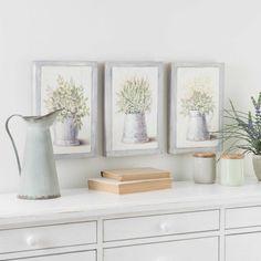 3 Bilder aus Holz 20 x 31 cm GARDENNING