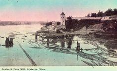 Brainerd Pupl Mill - Brainerd,Minnesota Postcard