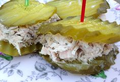 "Pickles for the win! These ULTIMATE dill tuna ""sandwiches"" were the besssst! Keto and low carb!"