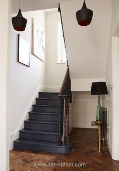 Dark painted stairs