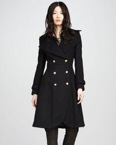 ShopStyle: Alice + Olivia Mariska Double-Breasted Trenchcoat