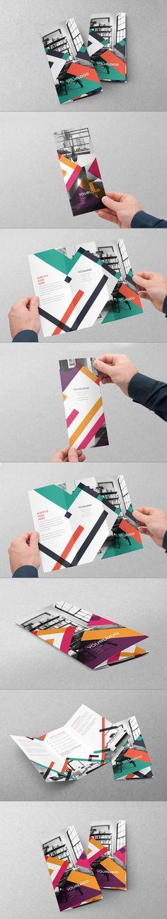 Colorful Stripes Trifold by Abra Design, via Behance