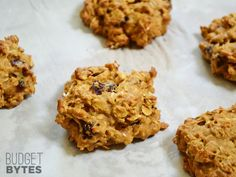 These soft and pillowy Oatmeal Pumpkin Cookies are low fat and full of flavor. Step by step photos.