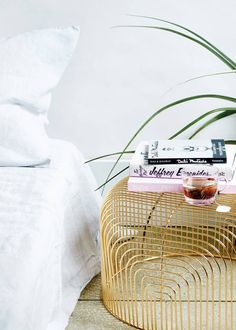 Discover three new and clever uses for the chic, Bend Goods wire basket such as, a nightstand, lamp shade, and style-focused storage solution. For more decorating tricks and inspiration, head to domino.