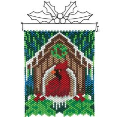 Herrschners® Christmas Cardinals Beaded Banner Kit