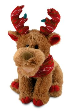 Cuddle Barn - Moose Wonderful II, $29.99 (http://store.cuddle-barn.com/MooseWonderfulII) Wow can this Moose sing and he does as his antlers flash...It's the Most Wonderful Time of the Year! Happy Holidays!