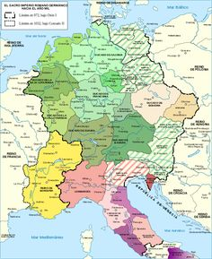 Holy Roman Empire century map-en - Stem duchy via Wikipedia Ancient Aliens, Ancient Rome, Ancient History, Ancient Greece, History Timeline, History Facts, History Memes, European History, World History