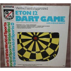 "Crown Recreation ""ABC's Wide World of Sports"" Eton 12 Dart Game"