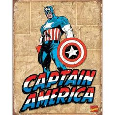 Captain America Comic Book Panels Retro Tin Sign $9.95