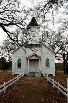 Beautiful white country church.